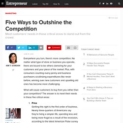 Five Ways to Outshine the Competition