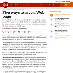 Five ways to save a Web page