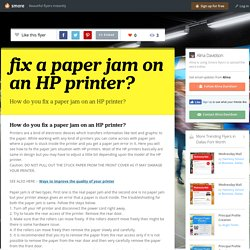fix a paper jam on an HP printer?