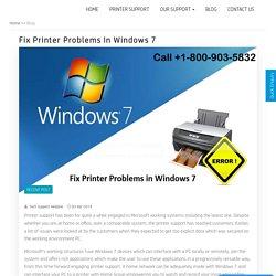 Fix printer problems in Windows 7