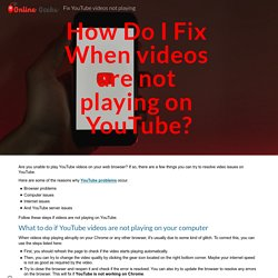 Fix YouTube videos not playing