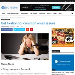 Get fixation for common email issues