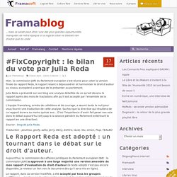 #FixCopyright : le bilan du vote par Julia Reda
