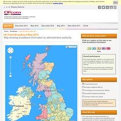 Ofcom Maps - Broadband speeds map