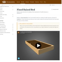 Fixed Raised Bed
