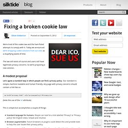 Fixing a broken cookie law