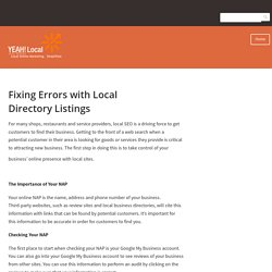 Fixing Errors with Local Directory Listings