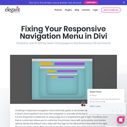 Fixing Your Responsive Navigation Menu in Divi
