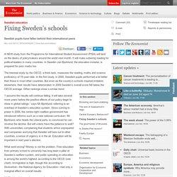 Swedish education: Fixing Sweden's schools