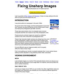 Fixing Unsharp Images