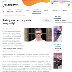 Fixing women or gender inequality
