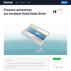 Fixstars announces six-terabyte Solid State Drive