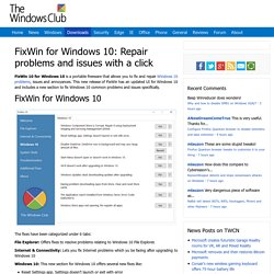 FixWin for Windows 10: Repair problems and issues in a click