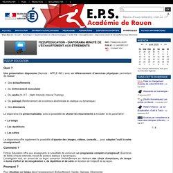 EPS - Académie de Rouen - FizzUpEducation - Diaporama minuté de l'échauffement aux étirements