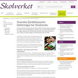Svenska fjärdeklassares läsförmåga har försämrats