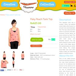 Flaky Peach Tank Top