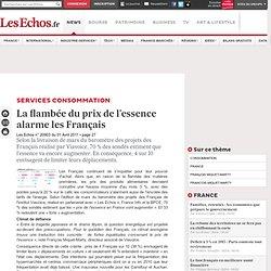 La flambée du prix de l'essence alarme les Français - CONSOMMATION