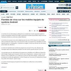 Flambée de virus sur les mobiles équipés du système Android