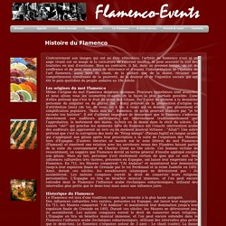 Flamenco-Events Histoire du Flamenco