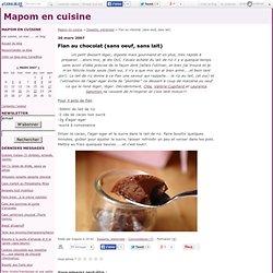 Flan au chocolat (sans oeuf, sans lait)