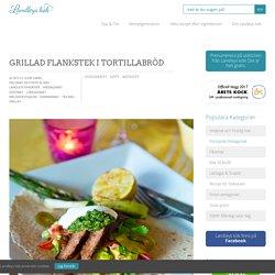 Grillad flankstek i tortillabröd - Landleys Kök