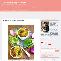 Flans de courgette au quinoa
