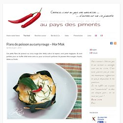 Flans de poisson au curry rouge