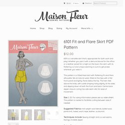 6101 Fit and Flare Skirt PDF Pattern - Maison Fleur