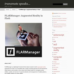 FLARManager: Augmented Reality in Flash | transmote speaks...