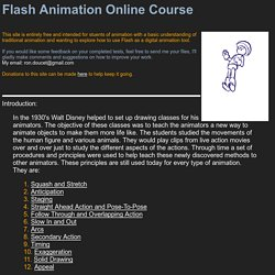 Flash Animation Online Course