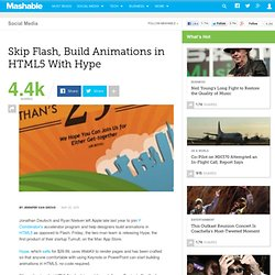 Skip Flash, Build Animations in HTML5 With Hype