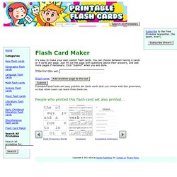 Flash Card Generator