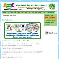 Free Flash Cards for English Teachers – ESL and EFL