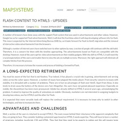 Flash Content to HTML5 - upsides