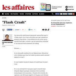 """""""Flash Crash"""""""