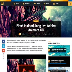 Flash is dead, long live Adobe Animate CC