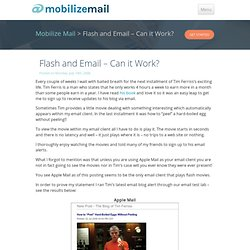 Mobilize Mail Opinion » Blog Archive » Flash and Email – Can it Work?