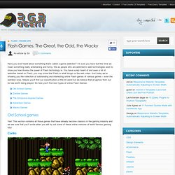 Flash Games. The Great, the Odd, the Wacky | RGB Agent - Web Design Intelligence