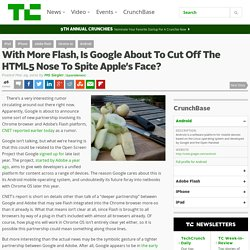 With More Flash, Is Google About To Cut Off The HTML5 Nose To Sp