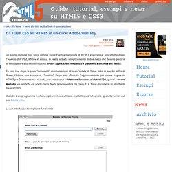 Da Flash CS5 all'HTML5 in un click: Adobe Wallaby