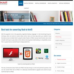 Flash to html5 conversion tools