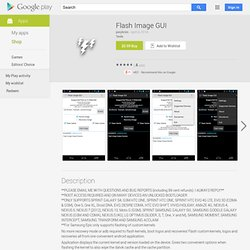 Flash Image GUI - Apps on Android Market
