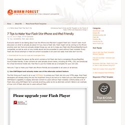 Make Your Flash Site iPhone and iPad Friendly | Warm Forest Flash Blog