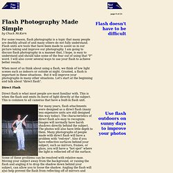 Flash Photography Made Simple