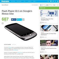 Flash Player 10.1 on Google's Nexus One