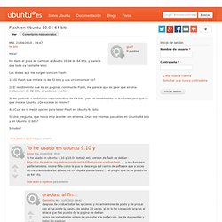 Flash en Ubuntu 10.04 64 bits