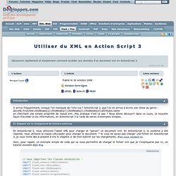 Flash - Utiliser du XML en ActionScript 3