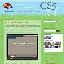 Flashadictos - Video Tutoriales Flash CS4, CS5 y Programación con ActionScript 3