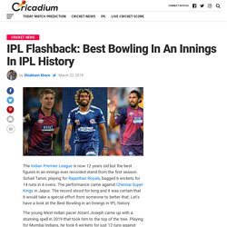 IPL Flashback: Best Bowling In An Innings In IPL History