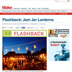 Flashback: Jam Jar Lanterns : Daily source of DIY craft projects and inspiration, patterns, how-tos | Craftzine.com